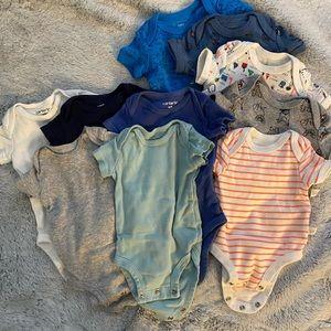 Carter's Newborn Size Short Sleeve Bodysuit Bundle